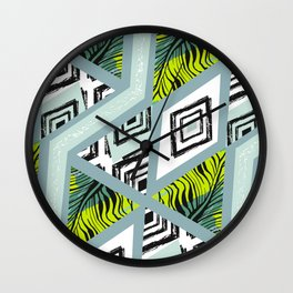 Libolo tropical pam leaves Wall Clock