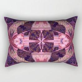 Magenta Power Portal Mandala Rectangular Pillow