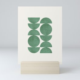 Green Retro Scandinavian - Mid Century Modern Mini Art Print