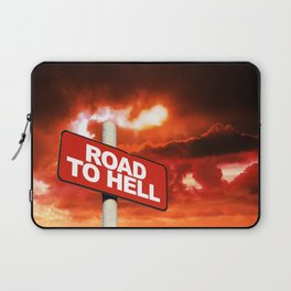 Road to hell sign Laptop Sleeve