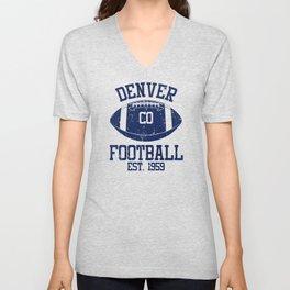 Denver Football Fan Gift Present Idea Unisex V-Neck