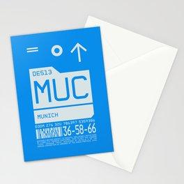Luggage Tag C - MUC Munich Germany Stationery Cards