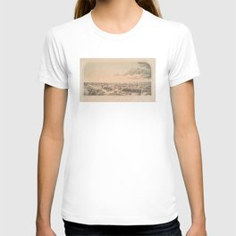 Vintage Pictorial Map of Key West FL (1855) T-shirt