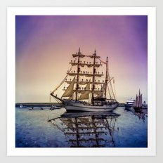Sail Boston -Guayas Art Print