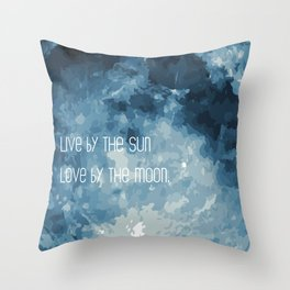 Love By The Moon Throw Pillow