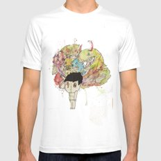 Monsters  White MEDIUM Mens Fitted Tee