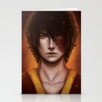 zuko Stationery Cards featuring Zuko Portrait by Amourinette