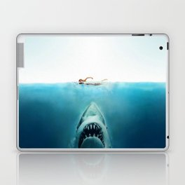 First And Last Swim Of The Day Laptop & iPad Skin