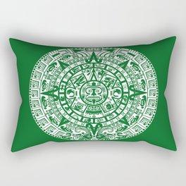 Mayan Calendar // Forest Green Rectangular Pillow