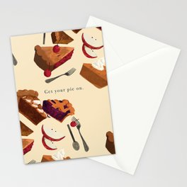 Get your pie on. Stationery Cards