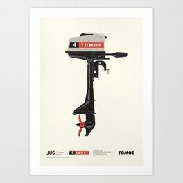 Outboard motor 4Tomos - Tomos Art Print