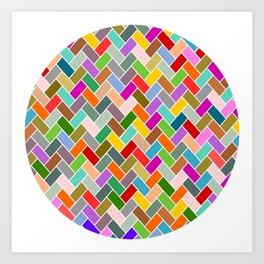 Colourful Tiled Mosaic Pattern Art Print
