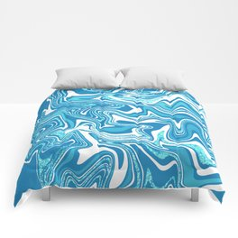 Blue Ice Marbled Agate Comforters