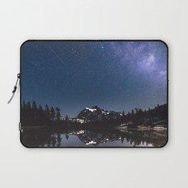 Summer Stars - Galaxy Mountain Reflection - Nature Photography Laptop Sleeve