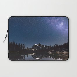 Summer Stars - Galaxy Mountain Reflection - Nature Photography Laptop Sleeve