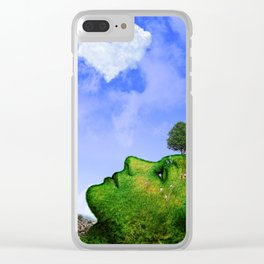 Mother Nature Smiling Clear iPhone Case