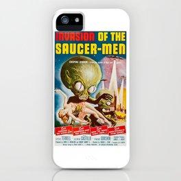 Invasion of the SaucerMen, Horror Movie Vintage Poster iPhone Case