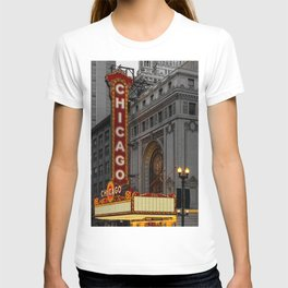 Chicago Theatre Sign Downtown State Street Historic Theater Marquee T-shirt