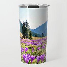 Spring in the Mountains Travel Mug