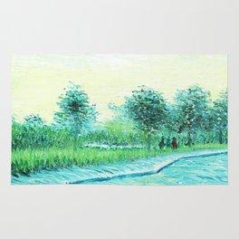Van Gogh : Park in Asnieres Rug