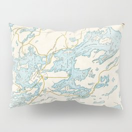 Vintage Muskoka Lakes Map Pillow Sham