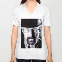 heisenberg V-neck T-shirts featuring Heisenberg  by DeMoose_Art