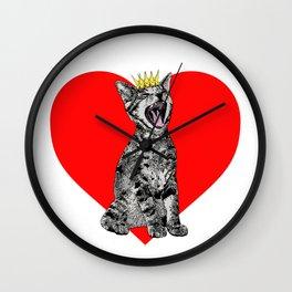 Kitty Heart Wall Clock