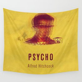 PSYCO - Hitchcok Poster Wall Tapestry