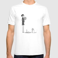 Eloise wondered if she had crossed the threshold into crazy cat lady territory White Mens Fitted Tee SMALL