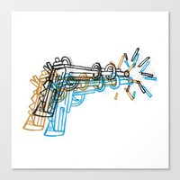 gun Canvas Prints featuring Gun by Marcelo Romero