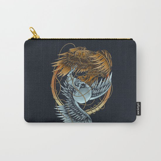 The Raven and the Owl Carry-All Pouch