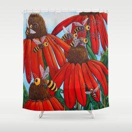 Bee Happy by DeeDee Draz Shower Curtain