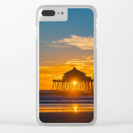 Southside Seagull at Sunset Clear iPhone Case