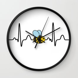 Cute Bee Pulse Rate for Beekeeper Wall Clock