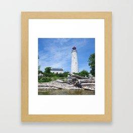 Chantry Island Lighthouse Framed Art Print