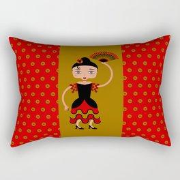 Spanish Flamengo Dancer Rectangular Pillow
