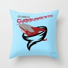 LA Sharknados Throw Pillow