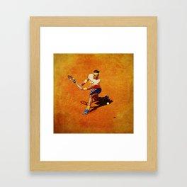 Rafael Nadal Sliced Backhand Framed Art Print