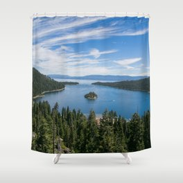 Emerald Bay, Lake Tahoe Shower Curtain