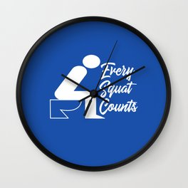 Every Squat Counts Wall Clock