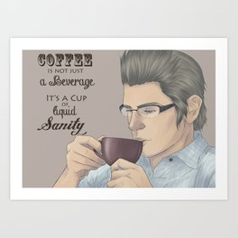 Coffee is not just a beverage - Ignis Scientia Art Print