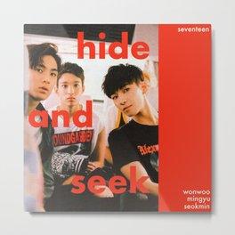 Artwork SEVENTEEN K-Pop Wonwoo & Mingyu & DK Metal Print