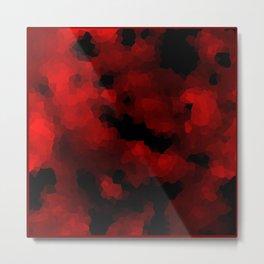 Black red polygonal background Metal Print