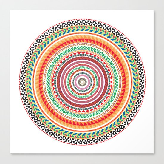 spring mandala (white background) Canvas Print