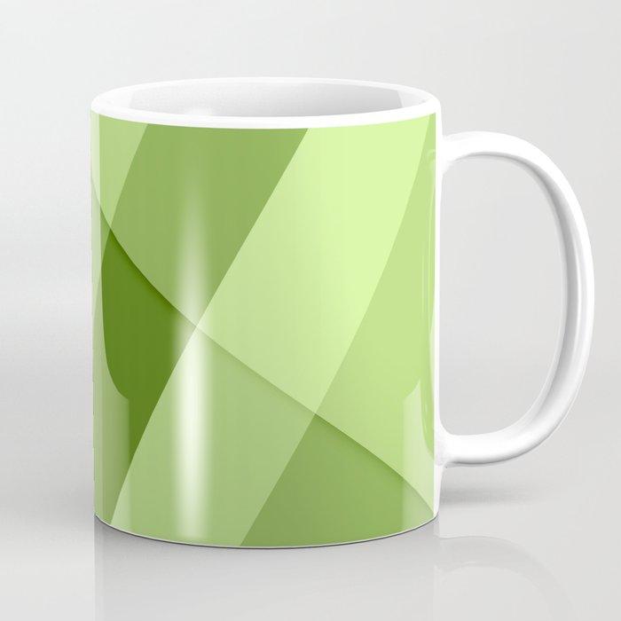 Greenery modern geometric lines Coffee Mug