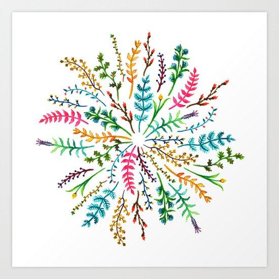 Radial Foliage Art Print