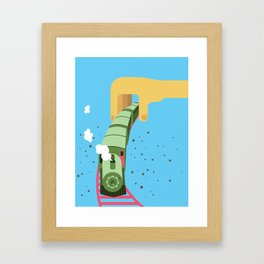 My choo choo train Framed Art Print