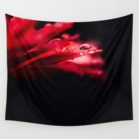 erotic Wall Tapestries featuring Erotic Gerbera by Tomas Hudolin