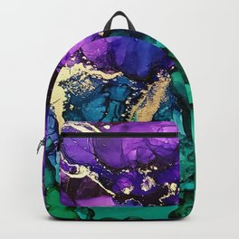 Mardi Gras Alcohol Ink Artwork Backpack