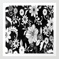floral pattern Art Prints featuring Floral pattern by Laake-Photos